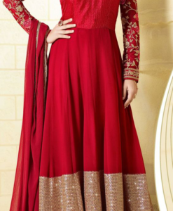 Best-out-of-waste-anarkali-ankle-length-full-flare-anarkali