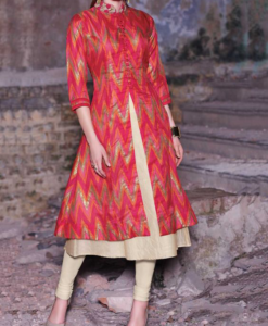 Best-out-of-waste-anarkalis-calf-length-semi-flare-anarkali