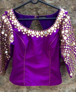 Best-out-of-waste-blouses-kurti-long-choli