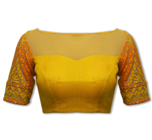 best-out-of-waste-blouses-open-back-neck-blouse-design-1