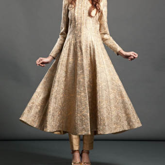 best-out-of-waste-indo-western-flare-kurti-with-front-cut