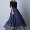 Best-out-of-waste-indo-western-pochu-top-with-a-lehenga