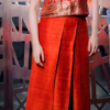 Best-out-of-waste-indo-western-with-a-top-and-skirt