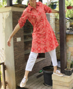 Best-out-of-waste-kurti-knee-length-shirt-style-kurti