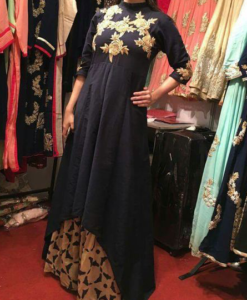 Best-out-of-waste-kurtis-ankle-length-high-low-kurti