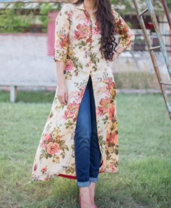 Best-out-of-waste-kurtis-calf-length-indo-western-style-kurti