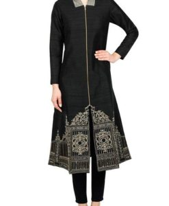 Best-out-of-waste-kurtis-knee-length-A-line-kurti