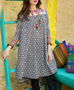 Best-out-of-waste-kurtis-knee-length-high-low-kurti