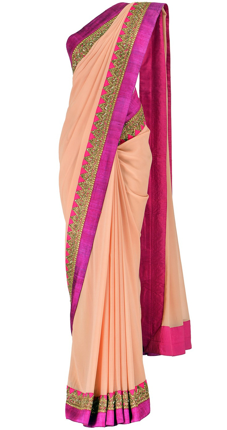 Best-out-of-waste-sarees-border-style-design-saree