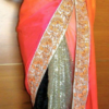 Best-out-of-waste-sarees-half-and-half-designs
