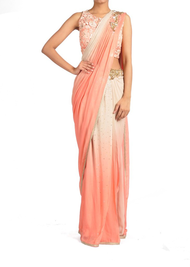 Best-out-of-waste-sarees-rapron-saree-1