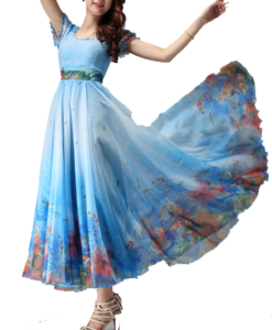 best-out-of-waste-stand-out-printed-evening-gown