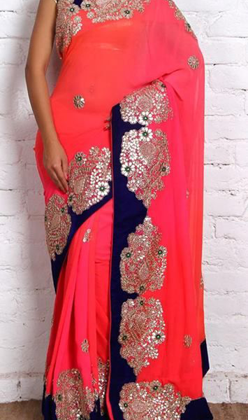 Best-out-of-waste-work-tranfer-on-saree