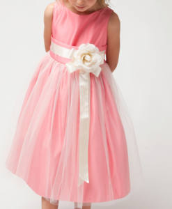 Best-out-of-waste-Kids-wear-for--girls-gown-with-a-flower-ribbon-bow