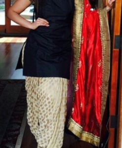 Best-out-of-waste-Salwar-Kameez-with-semi-patiala