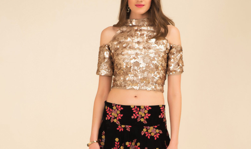 Best-out-of-waste-blouse-crop-top-style-blouse