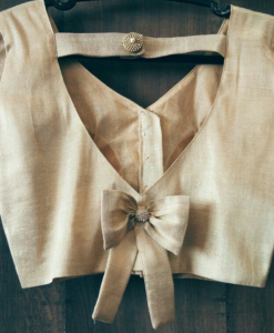 Best-out-of-waste-blouses-back-bow-design-blouse