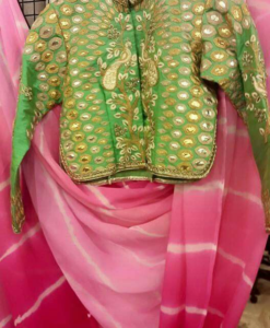 best-out-of-waste-blouses-long-choli-with-stand-up-collar-design