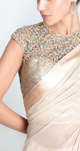 best-out-of-waste-blouses-saree-blouse-with-designer-back-pattern-1