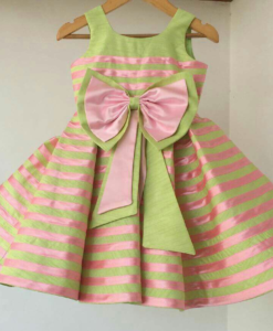 Best-out-of-waste-kids-wear-for-girls-Frock-with-Stripes