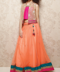 best-out-of-waste-kids-wear-for-girls-indo-western-lehenga-with-jacket