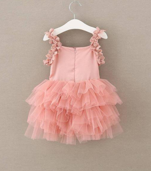 Best-out-of-waste-kids-wear-for-girls-casual-frock-with-frill-back