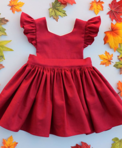 Best-out-of-waste-kids-wear-for-girls-christmas-party-frock