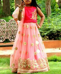 best-out-of-waste-kids-wear-for-girls-designer-lehenga-with-kali