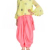 Best-out-of-waste-kids-wear-for-girls-dhoti-style-indo-western-style