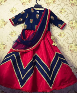 Best-out-of-waste-kids-wear-for-girls-elegant-lehenga
