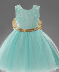 Best-out-of-waste-kids-wear-for-girls-frock-designer-frock-with-bow-front