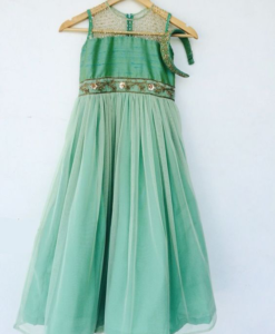 Best-out-of-waste-kids-wear-for-girls-full-flare-gown-for-girls