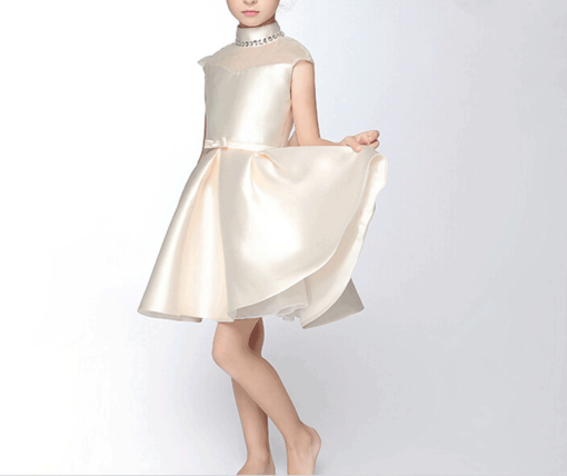best-out-of-waste-kids-wear-for-girls-high-neck-frock-with-belt