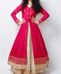 best-out-of-waste-kids-wear-for-girls-indowestern-with-lehenga