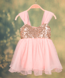 Best-out-of-waste-kids-wear-for-girls-party-wear-frock-with-frill