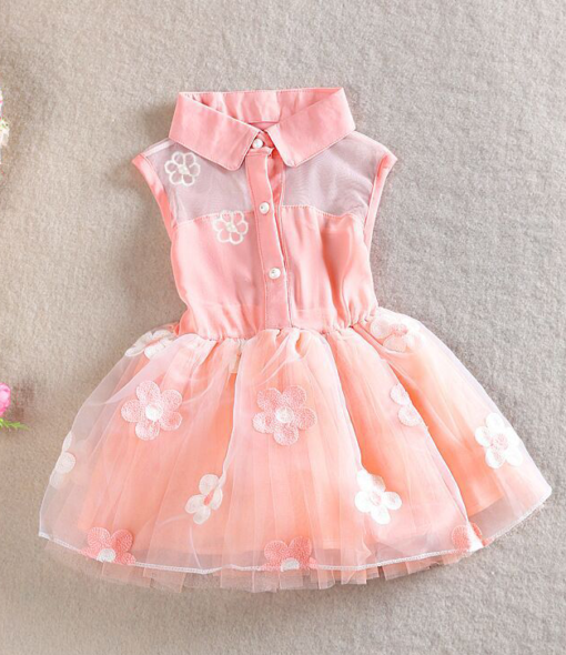 Best-out-of-waste-kids-wear-for-girls-princess-frock-with-flower-design