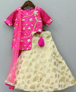 Best-out-of-waste-kids-wear-for-girls-printed-lehenga