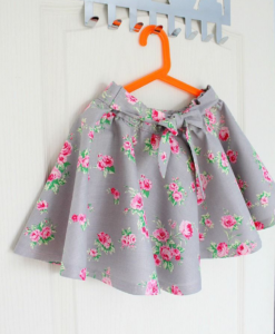 Best-out-of-waste-kids-wear-for-girls-printed-skirt