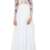 Best-out-of-waste-kurti-ankel-length-Simple-Printed-Sleeves-Kurti