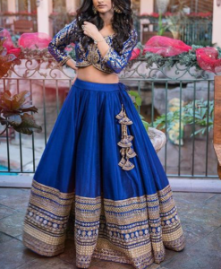 Best-out-of-waste-lehengas-circular-style-full-flare-lehenga