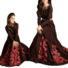 Best-out-of-waste-mom-and-daughter-straight-gown