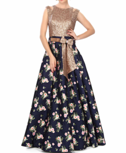 best-out-of-waste-standouts-evening-gown-with-belt-pattern-1