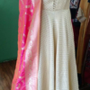 Best-out-of-waste-anarkali-ankle-length-stylish-high-neck-pattern