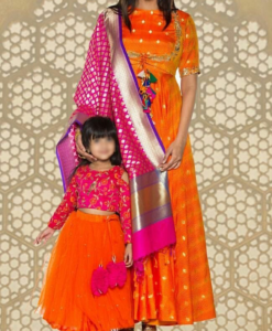 Best-out-of-waste-mom-and-daughter-ethnic-suit
