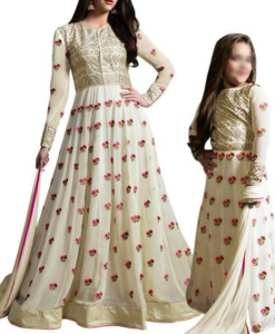 Best-out-of-waste-mom-and-daughter-anarkali-dress