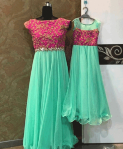 Best-out-of-waste-mom-and-daughter-gown-design