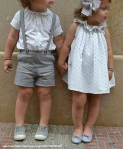 Best-out-of-waste-brother-shorts-with-sister-frock-design