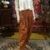 Best-out-of-waste-indo-western-dhoti-with-blouse-design