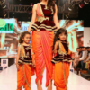 Best-out-of-waste-mom-and-daughter-indo-western-top-with-dhoti-design