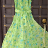 Green-color-summer-gown-back
